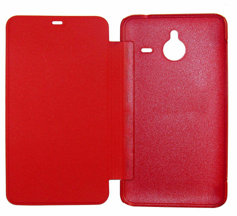 differently e941d 86845 Flip Cover For Microsoft Lumia 640 XL (Red)