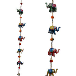Elephant Line with Ball Wall Hanging