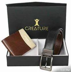 Combo Wallet And Belt Set
