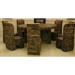 Log Dining Table Set