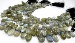 Natural Labradorite Pear Shape 10 To 18mm Strand 10 Inches.