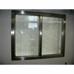 Stainless Steel Glass Window