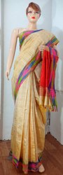 Handloom Bhagalpuri Pure Silk Saree, With Blouse Piece