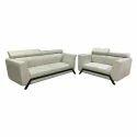 Leather And Velvet Modern Sofa Set