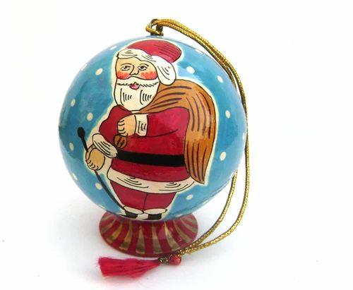 Paper Mache Santa Ball