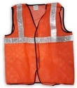 V4you Large , Free Size Orange Safety Vest, Construction, Traffic Control, Auto Racing, Sea Patrolling