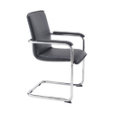 Rexene & Stainless Steel Visitor Office Chair