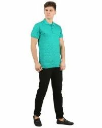 Mens Polo Allover Printed T Shirt