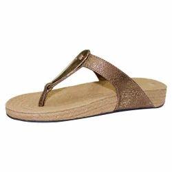 Beige And Dull Gold Women Jute Sandals