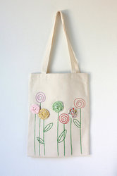 Embroidered Canvas Bags