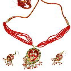 Rajasthani Meenakari Lacquer Necklace Set 190