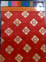 Heavy Dhupian Foil Print Fabrics