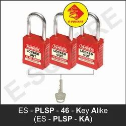 Premier Lockout Safety Padlock With Steel Shackle - Key Alike