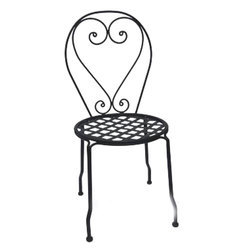 Black Wrought Iron Chair