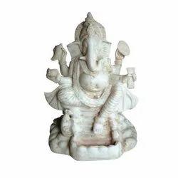 Ganesh Statues White God Ganesha Fibre Statue