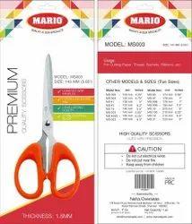 Mario Plastic Cutting Scissor, Size: 5.65'', Model Name/Number: Ms 003