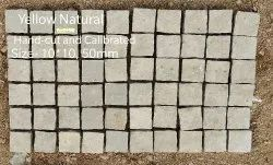 Flooring, Outdoor Yellow Natural Hand-Cut and Callibrated, Packaging Type: Depends, Size: 10-10cms