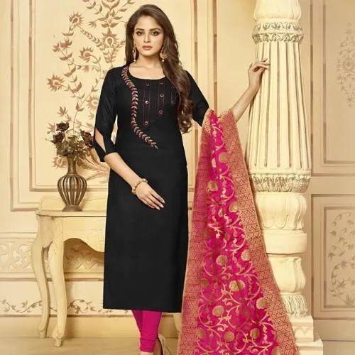 a3ae187474 Cotton Unstitched Salwar Kameez With Banarasi Dupatta, Rs 499 /piece ...