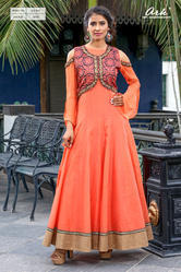 COLD SHOULDER ANARKALI KURTI