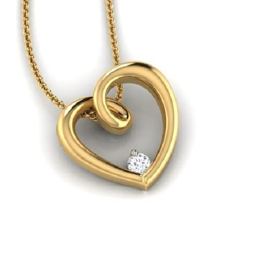Heart designer pendant necklace at rs 13000 piece heart shaped heart designer pendant necklace mozeypictures Choice Image