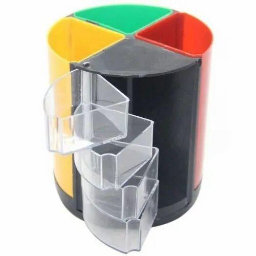 ABS Plastic Round Plastic Revolving Pen Stand