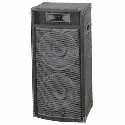 Black Wooden Dual 12 DJ Column with Speaker