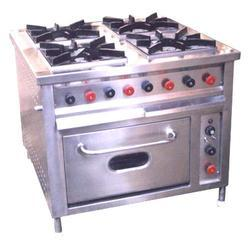 Four Burner Continental Gas with Ovens
