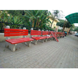 3 Seater Cement Bench