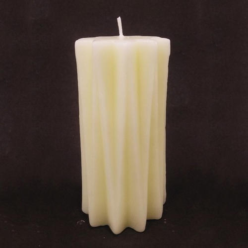 Designer White Pillar Candle