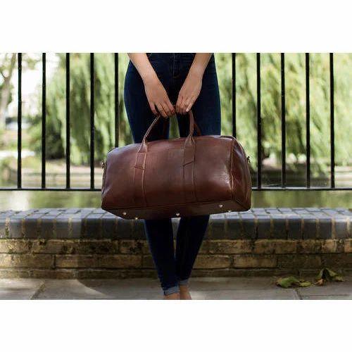 5b697df9d285 Grain Leather Signature Duffel Bag, Lluminaire | ID: 13928451873