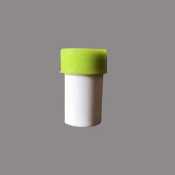 1/2 Dram White Homeopathic Plastic Bottle