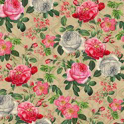 Polyester Flower Digital Printed Fabric
