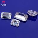 White Moissanite Diamond Emerald Cut