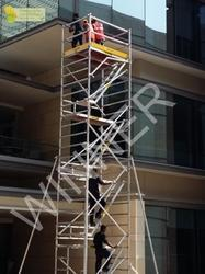 8 Mtr Silver Stairway Aluminium Scaffolding System, Size: 1350 Mm X 1800 Mm