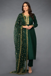 Emerald Green Embroidered Suit