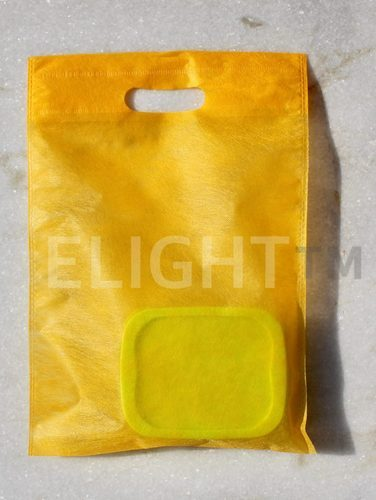 Polypropylene White And Lemon Yellow Elight 20 GSM Non Woven D Cut Bags, Bag Size: 10X14 And 12X16