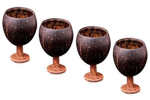 Coconut Shell Wine Cup Fedora Craft Manufacturer In Satellite