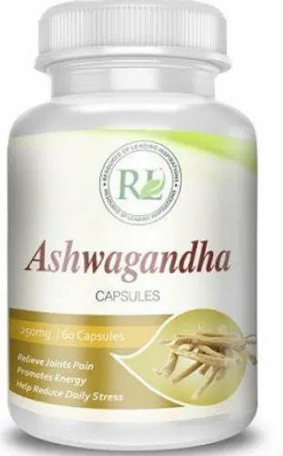 RL Ashwagandha Capsules, for Clinical, Packaging Type: Plastic Bottle