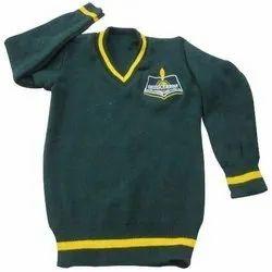 Green Full Sleeve School Uniform Sweater