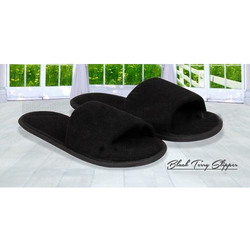 Old Tree Black Hotel Terry Carpet Slippers, Size: Free Size