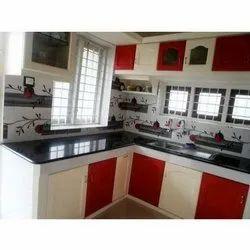 L Shape PVC Modular Kitchen, Warranty: 5-10 Years