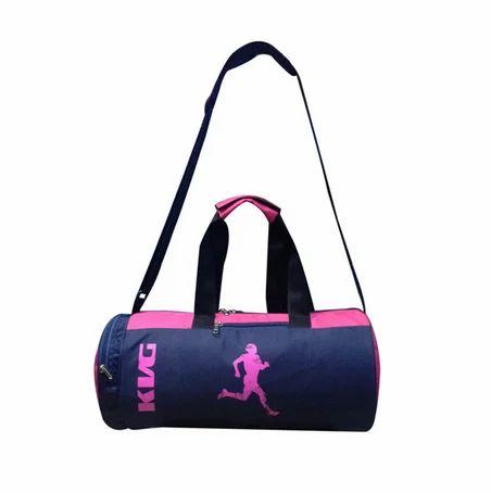 55d47c55dfcbd2 KVG Fashion Blue And Pink Color Jio Gym Bag, Rs 584 /piece | ID ...