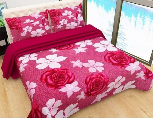 3D Floral Printed Bed Sheet