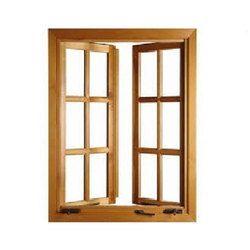 Solid Wooden Window Door