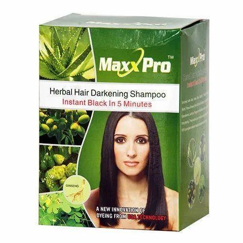 MaxxPro Herbal Hair Darkening Shampoo, Packaging Type: Box