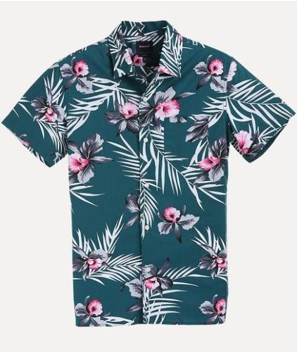 320a8e9e32 Hawain Print Camp Shirt