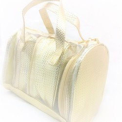 Shamax 4 P.C. Golden Cosmetic Bag