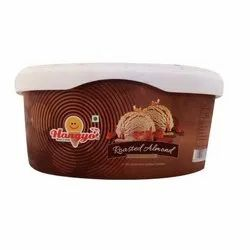 Hangyo Roasted Almond Ice Cream, Packaging Size: 1000 Ml, Packaging Type: Plastic Box