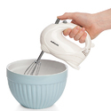 Sabichi White Electric Hand Mixer 5 Speed 100W Food Dough Whisk Beater
