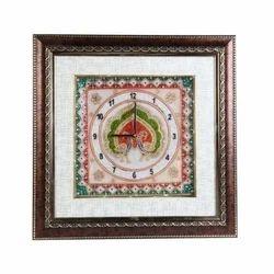 Wooden & Marble Clock With Excluasive Minakari Work